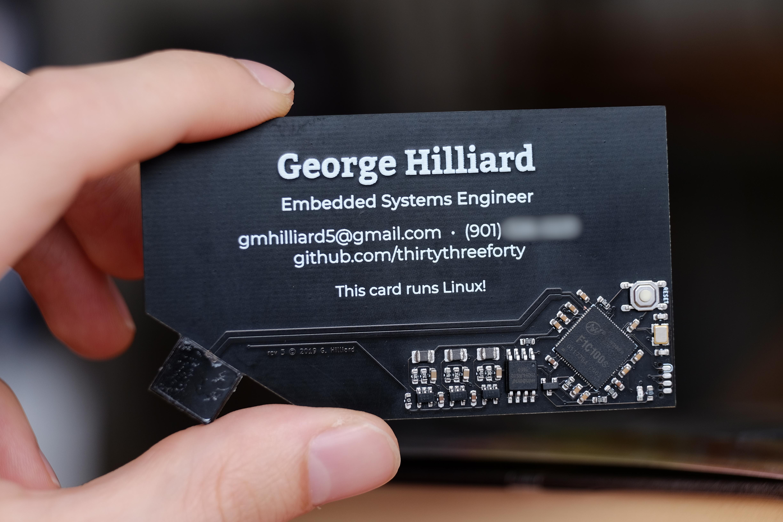 my business card runs linux  u2022  u0026 u0026gt    dev  null